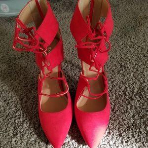 Express Red Heels